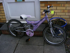 "GIRLS 20"" WHEEL BIKE WITH GEARS IN GOOD WORKING ORDER AGE 7+"