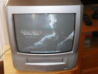 "TV PROBLEMS? LOOKING FOR A BARGAIN REPLACEMENT TODAY? GOODMANS PORTABLE 14"" TV/VHS COMBO, FORFAR"