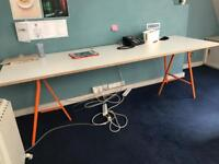 Bench style desk