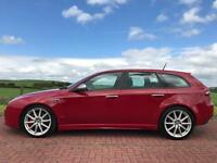 Red Alfa 159 sports wagon 1.9TI