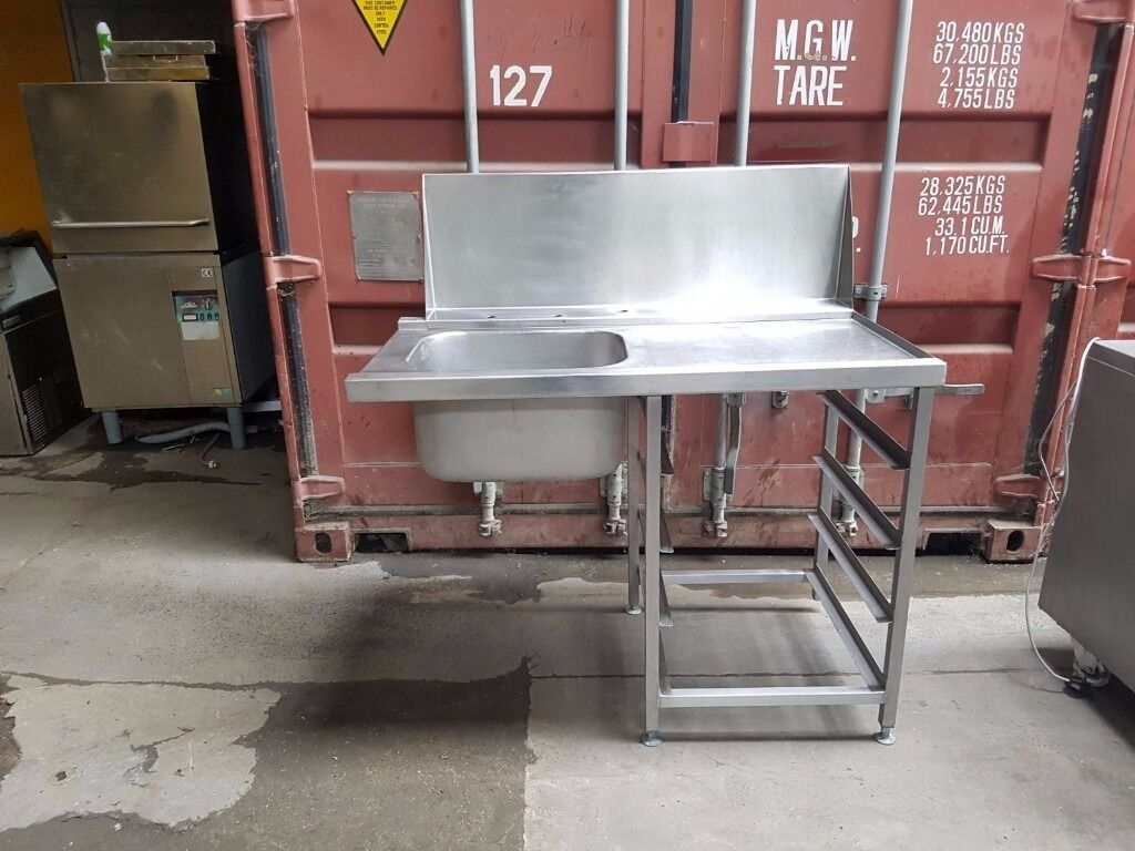 Commercial sink stainless steel 120 cm single bowl - Commercial Stainless Steel Single Bowl Sink With Taps Kitchen Sink For Cateringin Barking Londongumtree