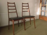 Two dining table chairs