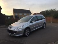 Peugeot 307 sw 1.6s HDI Diesel Estate Car 2008