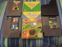 TEENAGE MUTANT NINJA TURTLES + SUPER MARIO BROS & DUCK HUNT + NINTENDO WORLD CUP - NES GAMES PAL