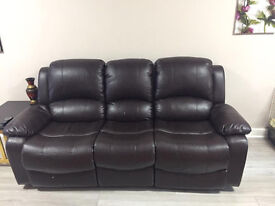 Leather Sofas with all recliners in great condition , 3+2+2 seaters