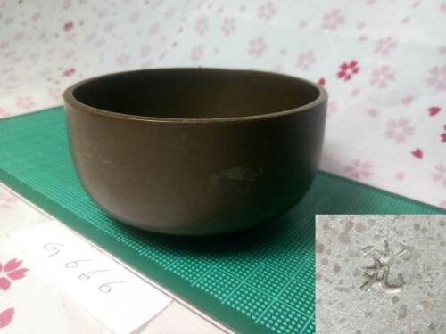 """Marked 3.327"""" Japanese Vintage Buddhist Bell Gong Rin G666 Traditional Tone"""