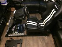 thrust master wheel, pro pedals and Gampod Rig