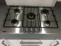 Zanussi Gas Stainless steal hob & extractor