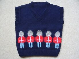 Pullover - toddler, boy, brand new, hand knitted