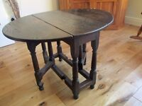 Small drop leaf side table, probably 1960's,