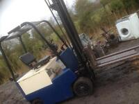 Electric forklift with charger good working order