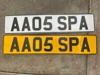 Cherished number plate SPA