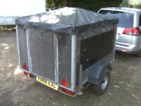 GALVANISED 5X4X3 WINDOW CLEANING SYSTEM TRAILER UNBRAKED...