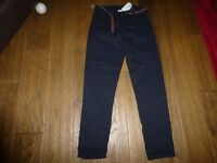 Girls brand new H & M Black cotton trousers with belt age 13-14 years