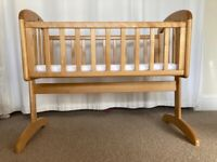 Baby Wooden Rocking Crib