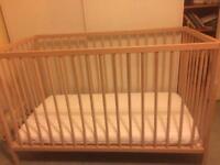 "Ikea ""sniglar"" cot and vyssa mattress"