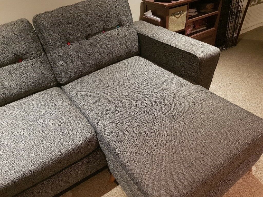 Gorgeous Dfs Grey 2 Seater Sofa With Movable L Footrest In Newhaven East Sus Gumtree