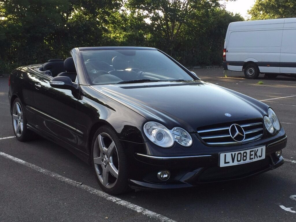 mercedes clk 280 amg automatic convertible 7 g v6 black excellent drive full service not 3 6. Black Bedroom Furniture Sets. Home Design Ideas