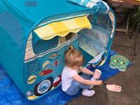 Kids Chad Valley pop-up indoor/outdoor campervan play house