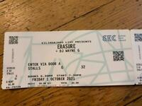 2 x Erasure tickets SOLD OUT GLASGOW Friday 1 October 2021 SEC Armadillo