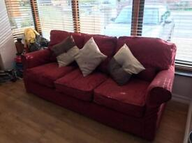 Red 3 seater Sofa - 2nd hand