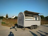 Mobile Catering Trailer Burger Pizza Trailer Van Hot Dog Ice Cream Cart 3400x2000x2400
