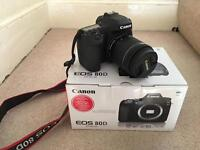 Canon 80D w/18-55mm lens like new.