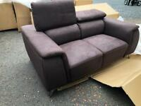 New**brown fabric 3+2 reclining headrests ONLY £799