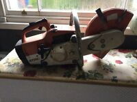 Stihl disc cutter. Comes with diamond tip blade, works just needs the fuel ratio redone.