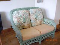 Wicker six piece conservatory furniture set