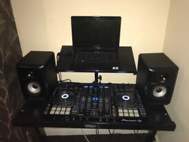 Pioneer dj set up ddj-rx controller sdj50x monitors