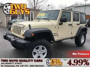 2011 Jeep WRANGLER UNLIMITED SPORT AUTO 4WD LEATHER WRAPPED WHEE
