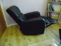 black two recliner armchairs
