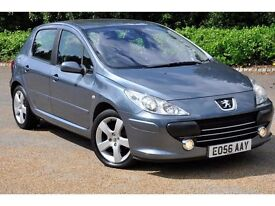 2006 Peugeot 307 1.6 16v Sport 5 DOORS+AUTOMATIC+ YES LOW GENUINE MILEAGE+FREE 3 MONTHS WARRANTY