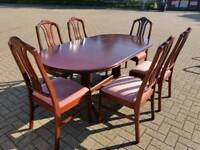Mahogany Parker Knoll Extendable Dining Table and 6 Matching Chairs – Delivery Available