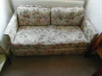 SOFA BED, LIGHT FLORAL PATTERN, can deliver