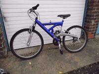 "26"" Wheel Royal Blue Bike, used/nearly new"