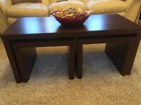 Coffee Table with 2 smaller tables which fit underneath