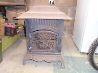 Cast iron decorative outdoor fireplace