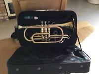 "Vincent Bach ""prelude "" brass and copper cornet"