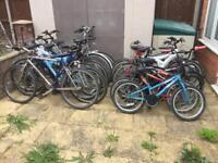 Job lot of 14 bikes spares or repairs