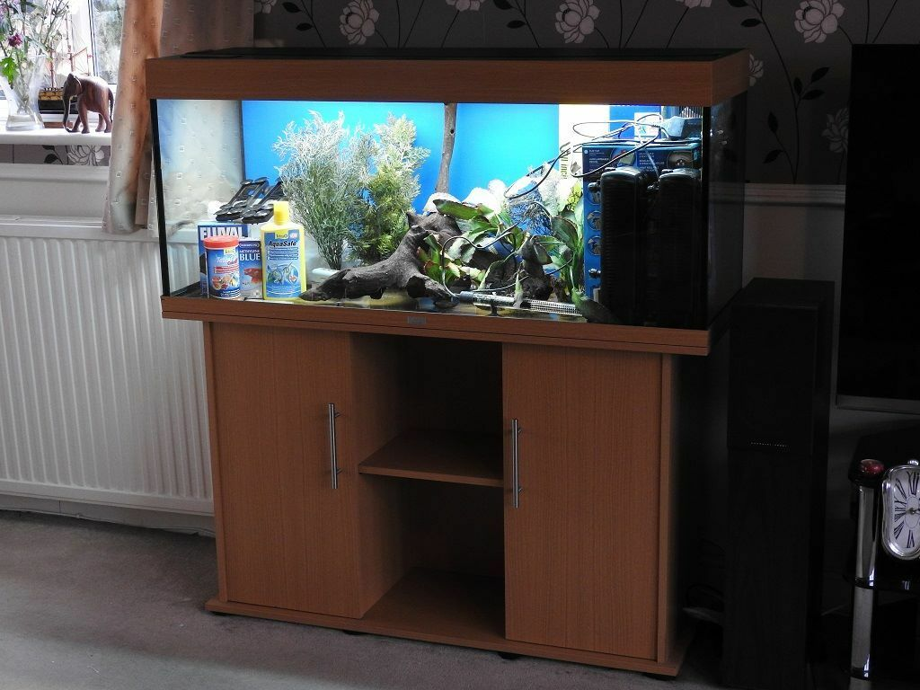 juwel rio 240 tank and cabinet in beech with lots of extras in sutton london gumtree. Black Bedroom Furniture Sets. Home Design Ideas