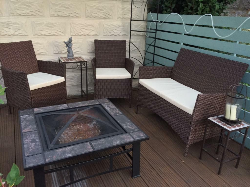 Sold rattan garden furniture 2 chairs and 1 sofa