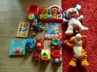 Large bundle of baby toys