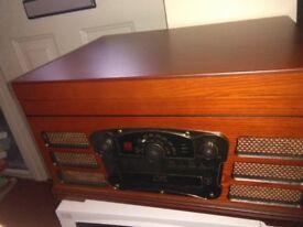 "Classic Style Turn Table, Vinyl/CD/Radio USB/SD AM/FM Radio, BRAND NEW & Un Used ""Graded"""
