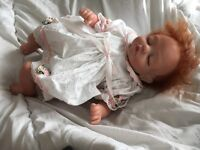 Beautiful tiny reborn red head baby doll