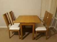 ikea BORJE table and 4 chairs