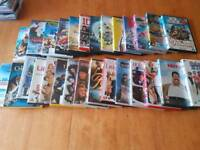 An assortment of dvds.