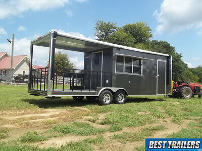 2020 Liberty 8.5 X 26 Bbq Porch Enlcosed Concession Vending Trailer Smoker Power