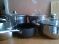 5 Pots stainless steel